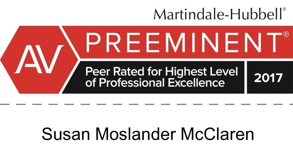 Susan Moslander McClaren AV Rating
